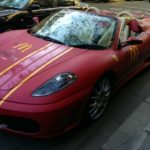 Ferrari used as McDonalds delivery car